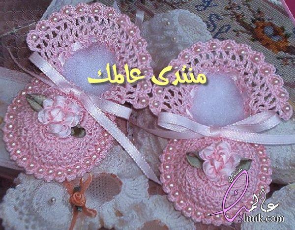 طريقة عمل لكلوك للاطفال بالكروشيه خطوة بخطوة،طريقة عمل حذاء كروشيه،احذية بيبى من الكروشية