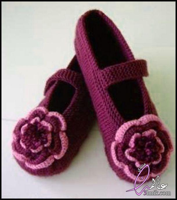 احذية كروشيه للصبايا،حذاء كروشيه نسائي،طريقة عمل لكلوك كروشيه بناتى،احذية كروشية للكبار 2018