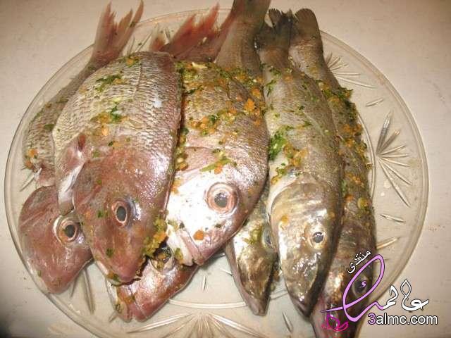 طريقة عمل السمك البلطى المشوى بالردة،شوى السمك فى فرن البوتاجاز،كيفية شوى السمك بالمنزل،تتبيلة السمك