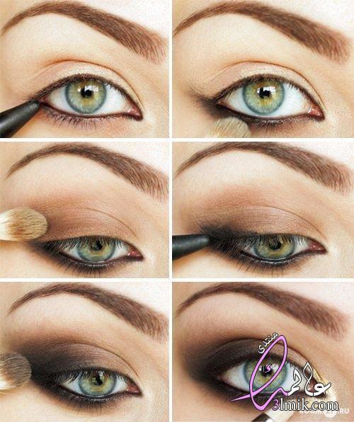 خطوات لرسم العين،طريقه جديده لرسم العين بالخطوات،خطوات رسم العين