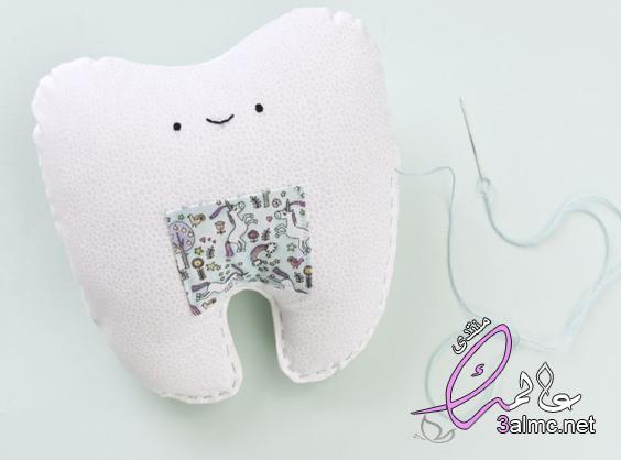 خياطة وسادات بالصور.طريقة خياطة مخدات للاطفال.خياطة وجه مخدة على شكل اسنان.كيفية خياطة وسادة بسيطة
