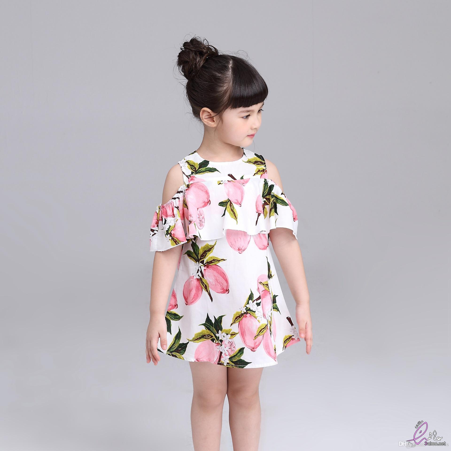 62450b9fd فساتين اطفال روعه.ملابس اطفال لصيف 2018.ازياء اطفال اكثر جاذبية.فساتين قماش