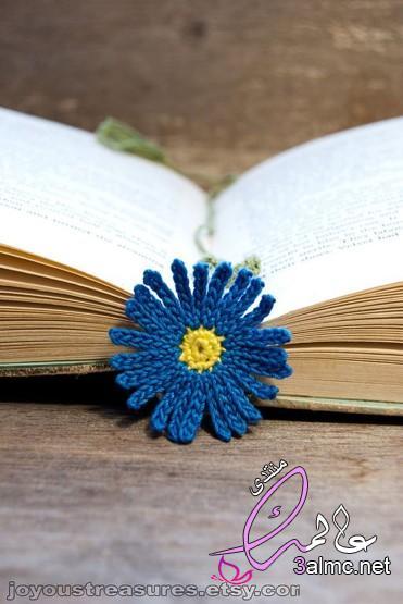 فواصل كتب بالكروشية،فواصل للكتب من الكروشيه،فواصل مميزة للكتب،فواصل رائعة من الكروشيه للكتب والدفاتر