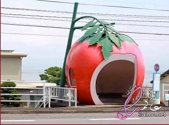 مواقف حافلات على شكل فواكة في اليابان