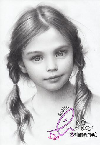 رسومات بنات كيوت بالرصاص،رسم بنات انمي بالرصاص،رسم بنات بالرصاص للمبتدئين
