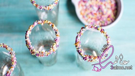 ميلك شيك حلوى القطن بالصور,طريقة عمل ميلك شيك الوان بالبيت,ميلك شيك رائع