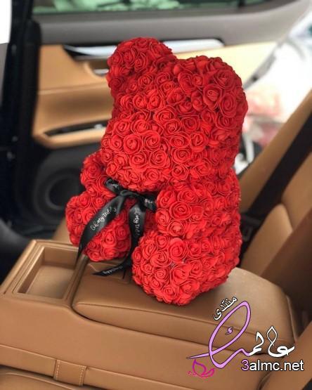 الدب القلب زهرة اصطناعية ارتفع تيدي بير للنساء عيد الحب الزفاف هدية الكريسماس 3almik.com_03_20_159