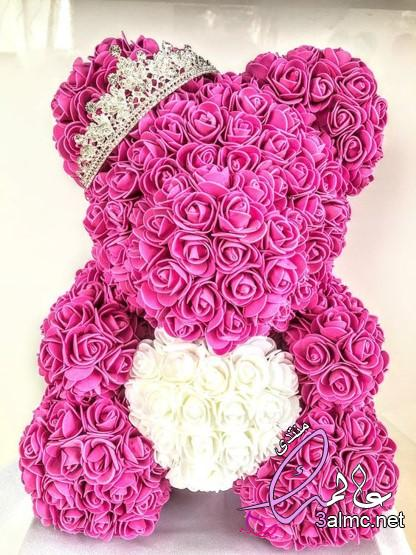 الدب القلب زهرة اصطناعية ارتفع تيدي بير للنساء عيد الحب الزفاف هدية الكريسماس