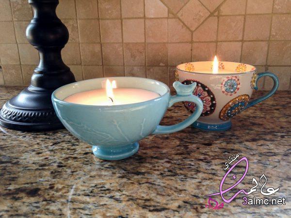 إصنع شمعة من ألوان الشمع,صناعه الشموع بالصور,صنع الشمع المعطر,Cup of Candles