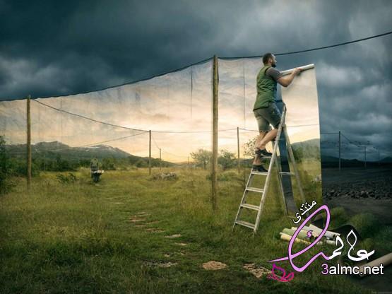 صور حياتى 2028 - صورة رسام جميله،بالصور.. فنان سويدى يبدع في مزج الصور الواقعية