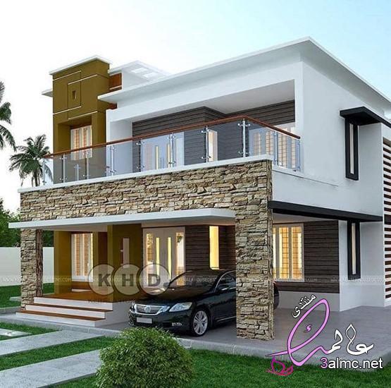 اجمل تصميمات وديكورات الفلل،تصاميم فلل ومنازل من الخارج 2020 تصميمات بيوت مودرن،تصاميم فلل حديثة
