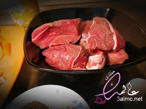 تحضير وصفة لحمه بالصوص الابيض مع خضار سوتيه