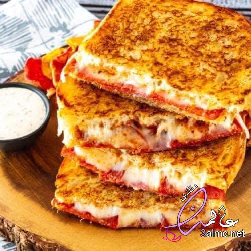 طريقة عمل ساندوتش البيتزا للشيف حسن