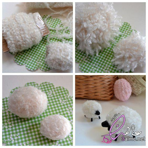 طريقة عمل خروف العيد للاطفال بالقطن , بالصور طريقة عمل خروف العيد بالصوف