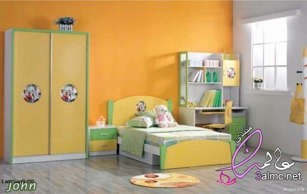 غرف نوم اطفال مودرن بديكورات شيك,غرف نوم اطفال مميزة