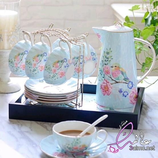 طقم شاي وقهوة للعرايس، صور أطقم الضيافة للشاى والقهوة 2020