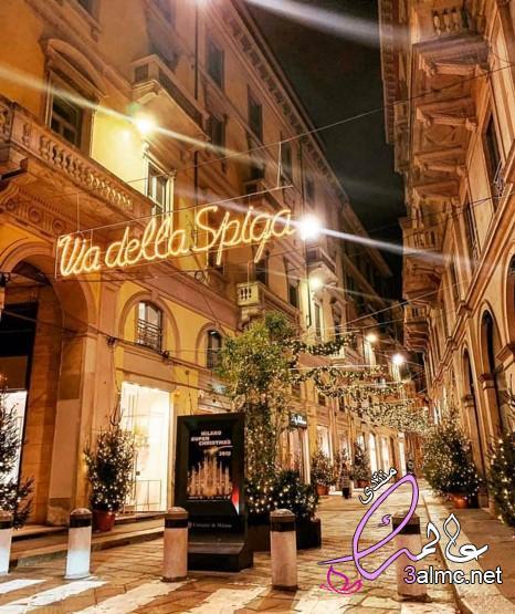 بالصور .. اليوم أجواء عيد الميلاد من ميلانو/ايطاليا 2020
