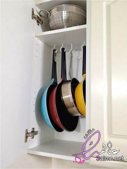 افكار للمطابخ الصغيرة جدا , استغلال مساحة المطبخ الصغير , حيل للاستفادة من جميع مساحات المطبخ