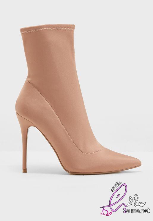 أجمل موديلات أحذية بوت 2019 احذيه بوت طويلة موضه 2020 , بوتات طويلة هاف بوت شتوى صور احذية شتاء 2020