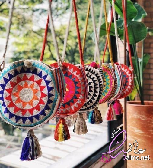 شنط نسائية2020,افكار من القماش لعمل شنط يد,حقائب يد مصنوعه من القماش,صور شنط قماش هاند ميد