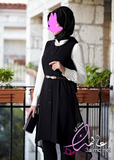 ملابس خروج للبنات المحجبات ,2019 لباس خارجيه لفتيات محجبات - دلع ورد-2020