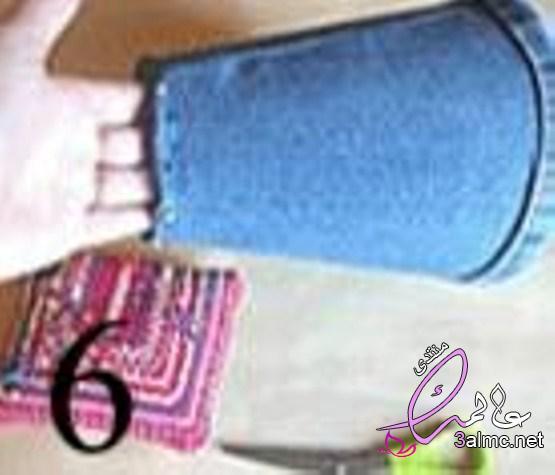 طريقة عمل تجديد أباجورة قديمة ببنطلون جينز قديم,طريقة تجديد الأباجورة بالجينز