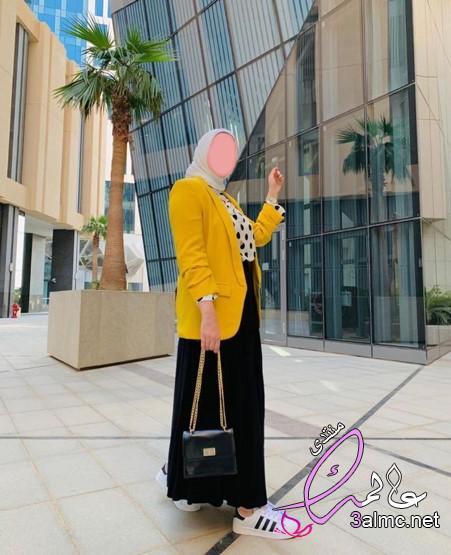 ملابس محجبات للجامعة 2020،صور اجمل ازياء المحجبات جديدة،اجمل لبس للمحجبات,تصميمات مودرن روعه