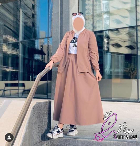 أجمل دريسات خروج للبنات 2019 , دريسات خروج للمحجبات،أجمل ملابس كاجوال للمحجبات2020
