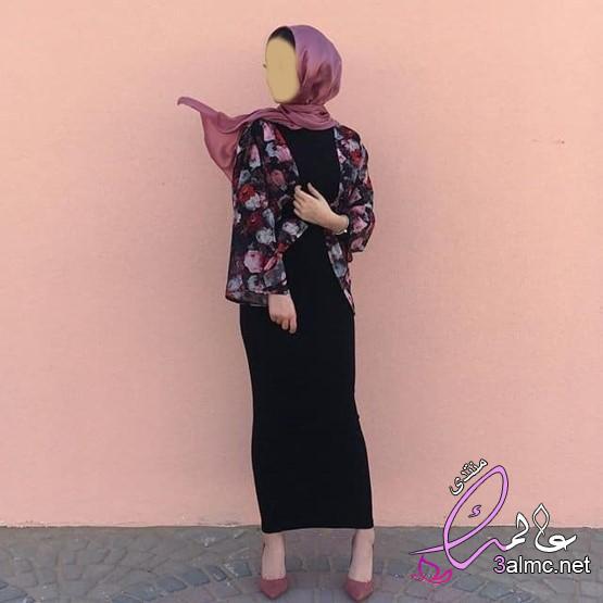 أزياء وملابس محجبات 2019 - 2020 كنتوسه،احدث تصميمات ازياء ملابس محجبات مودرن وشيك