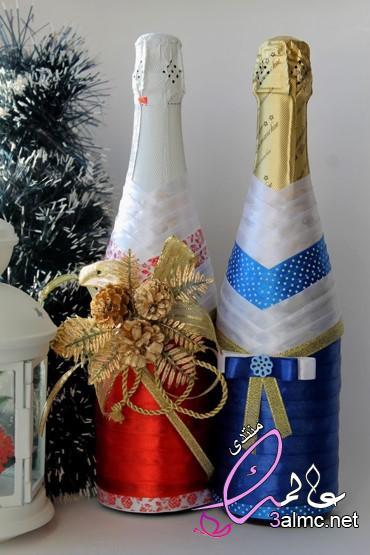 صناعة فازات راقية من الزجاجات الفارغة , أفكار جديدة لتزيين الزجاجات الفارغة