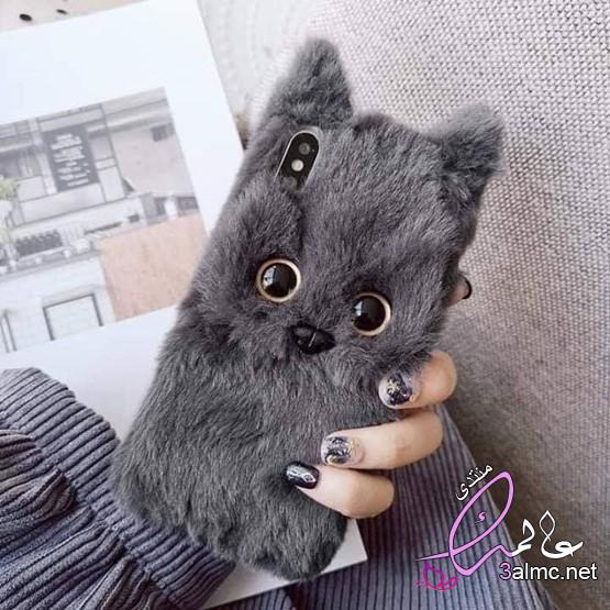 جراب ظهر قطه،كَڤرات موبَايل على شكل قطط، جرابات موبايل قطة 2020 3almik.com_20_20_159