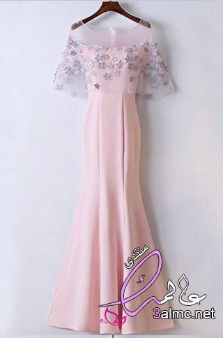 فساتين زفاف ملونة للمحجبات , فساتين ملونة للمناسبات , فساتين اعراس , فساتين ملونه ناعمه