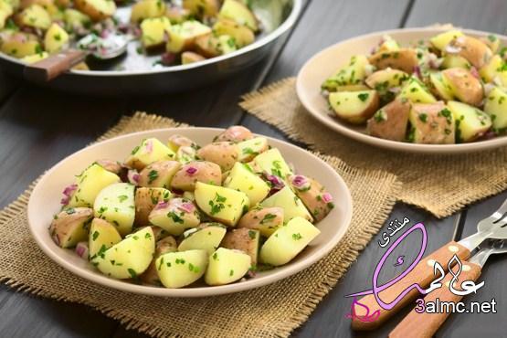 طريقه عمل سلطه البطاطس للرجيم ، طريقه تحضير سلطه البطاطس