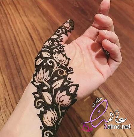 شاهدي بالصور أجمل رسومات حناء للعروس،نقش حناء هندي،نقش حناء ناعم وخفيف 3almik.com_23_20_159