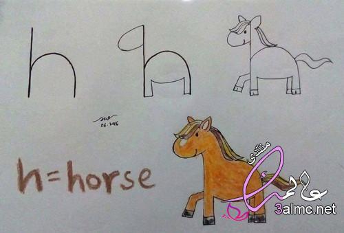 رسم الحروف الانجليزية بطريقة جميلة , حروف اللغة الانجليزية للاطفال بالصور
