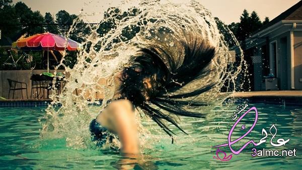 حماية الشعر من الشمس والبحر,علاج الشعر من الكلور,كيف احافظ على شعري من كلور المسبح