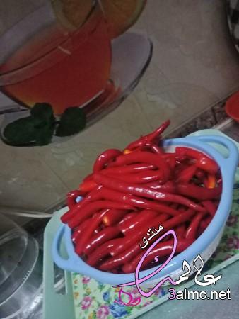 طريقة عمل هريسة الفلفل الأحمر الحار