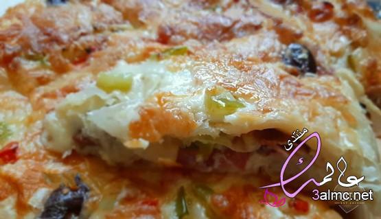 بيتزا الجلاش طريقة عمل بيتزا الجلاش باللحمة المفرومة،بيتزا الجلاش السريعة 3almik.com_28_20_159