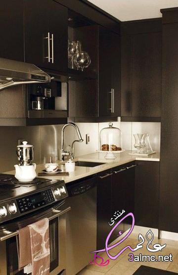 احدث المطابخ,كتالوج مطابخ,مطابخ مودرن باللون الاسود,المطابخ الداكنة2020,المطبخ الخشبي الداكن