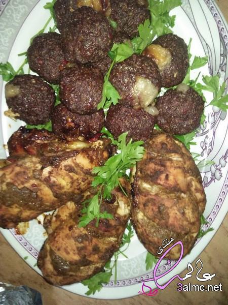 طريقة عمل كرات اللحم محشية بالجبن، طريقة عمل الكفتة التركية بالجبن،كفتة محشية موزاريلا