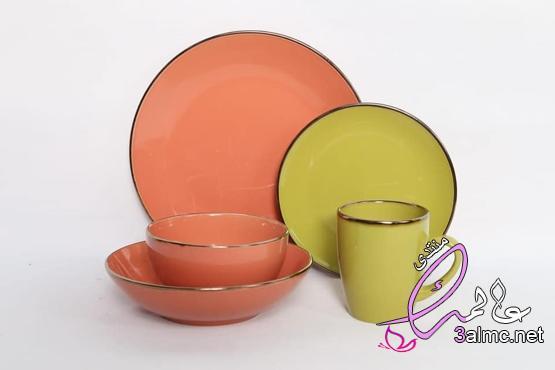 اطباق سفره شيك,أطباق عملية بألوان الربيع المشرقة,اكبر تشكيل اطباق صينى,اطباق تقديم فاخره 3almik.com_31_19_156