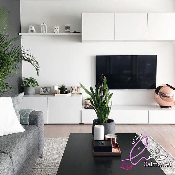 أفكار للتلفزيون المعلق،ديكورات شاشات خشبية بسيطة،ديكورات شاشات بلازما على الحائط